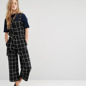 Shades of Grey Checked Utility Jumpsuit